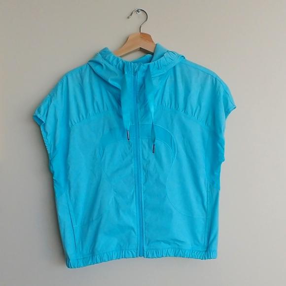 Sky Blue Lululemon Short Sleeve Jacket